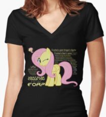 What else could anyone possibly ask for? (Fluttershy) Women's Fitted V-Neck T-Shirt