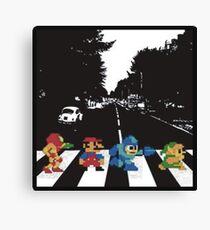 Nintendo Sprites on Abbey Road Canvas Print