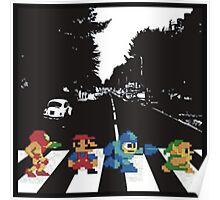 Nintendo Sprites on Abbey Road Poster