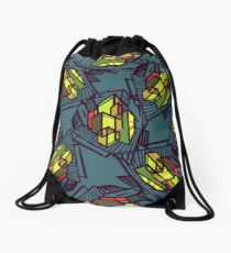 Urban city Drawstring Bag