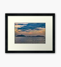 Landscape Scene from Ipanema Beach Rio de Janeiro Brazil Framed Print