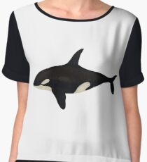 Killer whale Women's Chiffon Top