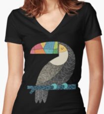 Tucan chilling Women's Fitted V-Neck T-Shirt