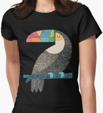 Tucan chilling Womens Fitted T-Shirt