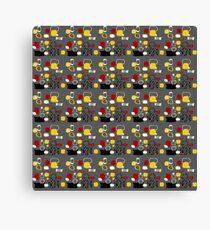 Retro 50s abstract colour palette 2 Canvas Print