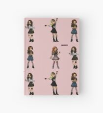 black pink sticker set Hardcover Journal