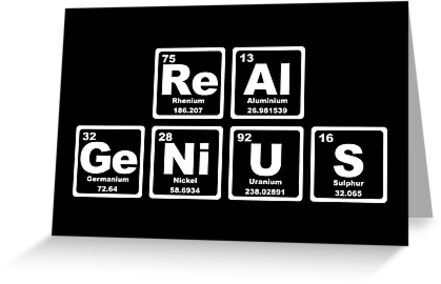 Real Genius Periodic Table Greeting Cards By Graphix Redbubble