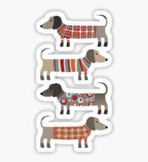 Sausage Dogs in Sweaters Sticker