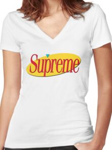 Supreme Seinfeld Collab Women's Fitted V-Neck T-Shirt