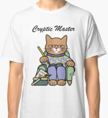 Cryptic Master Crossword Cat Classic T-Shirt