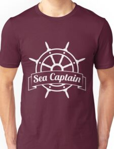 Sea Captain at the Wheel Unisex T-Shirt