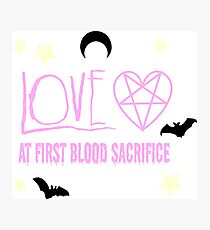 LOVE AT FIRST BLOOD Photographic Print
