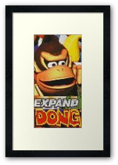 Quot Expand Dong Meme Reddit 4chan Donkey Kong Dank Quot Framed