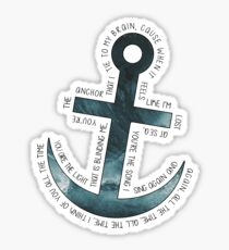 The Anchor // Bastille (band) Sticker