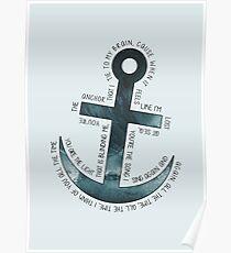 The Anchor // Bastille (band) Poster