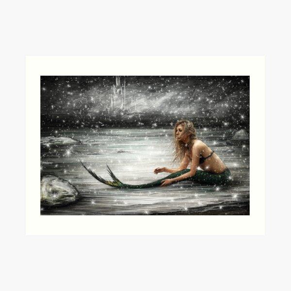 Winter Mermaid  Art Print