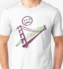 Stencil Golden Gate San Francisco Outline Unisex T-Shirt