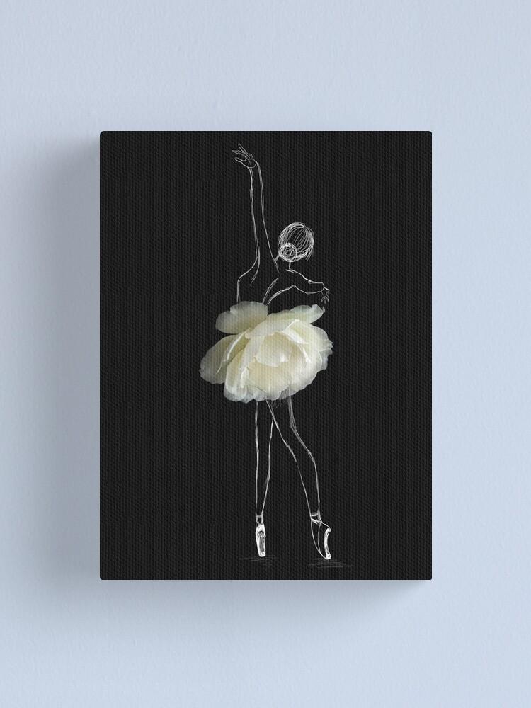 Alternate view of White rose ballerina Canvas Print