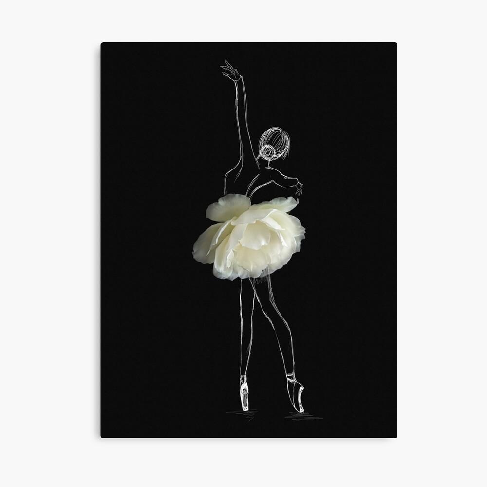White rose ballerina Canvas Print