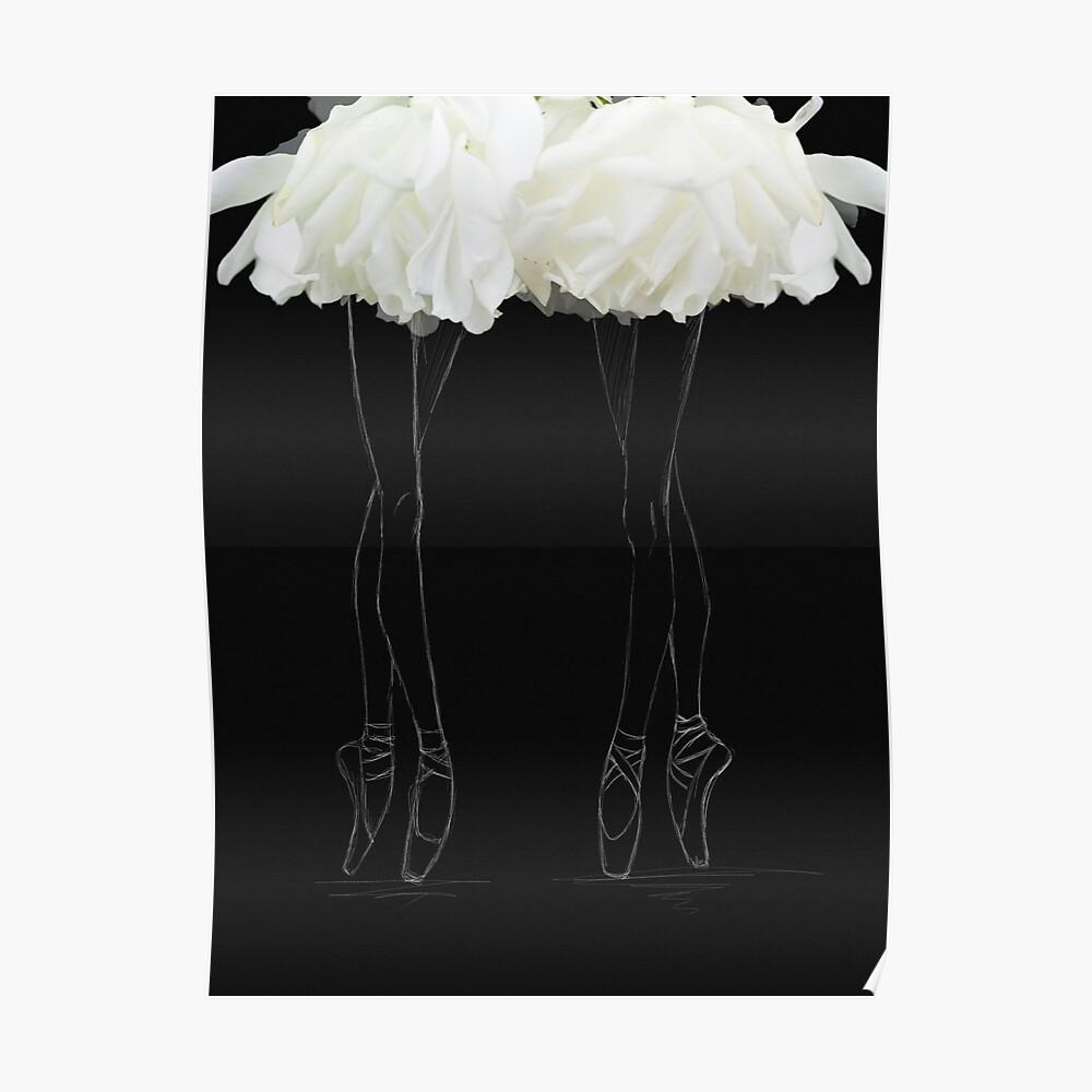 En pointes ballerinas Poster