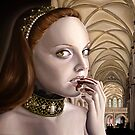 Dark Renaissance Girl in Cathedral by plantiebee
