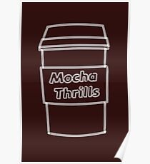 Cool Mocha Coffee Cup  Poster