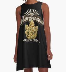 Marijuana Oregon Grown A-Line Dress