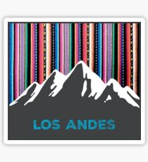 Los Andes mountains and colorful sky Sticker