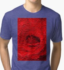 Floral abstract study in red Tri-blend T-Shirt