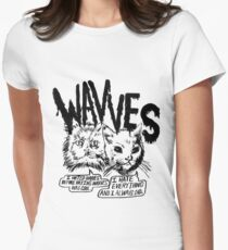Wavves I Hated Wavves Before they were cool  Women's Fitted T-Shirt
