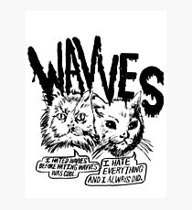 Wavves I Hated Wavves Before they were cool  Photographic Print