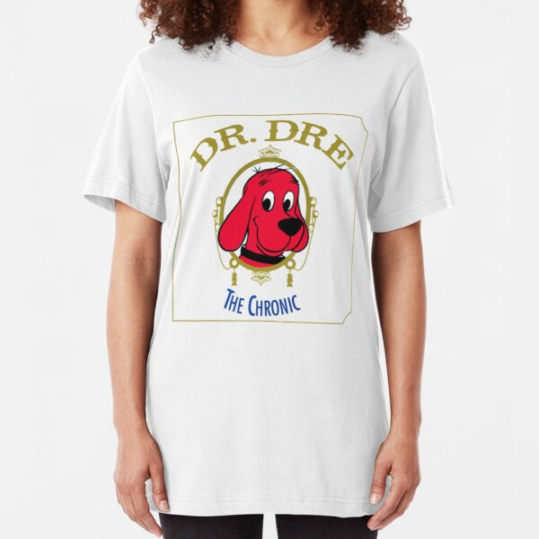 Clifford the Big red dog 2001 Dr Dre the Chronic  Slim Fit T-Shirt
