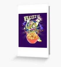 Buzz'os Lightyear Breakfast Cereal Greeting Card