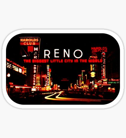 Reno Nevada Sign Vintage Travel Decal Sticker