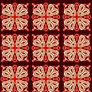 Glowing Pattern in Maroon by Rasendyll