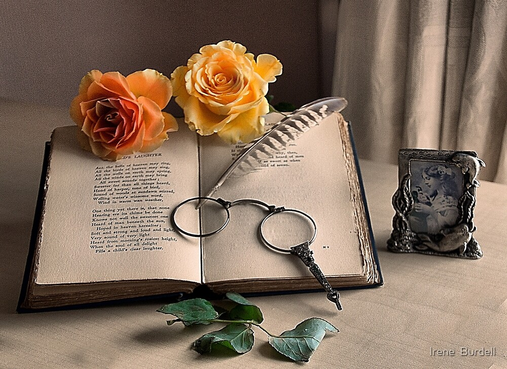 Vintage Roses by Irene  Burdell