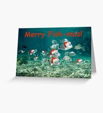 Fish Christmas Card: 2 Greeting Card