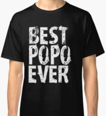 Best Popo Ever Grandfather Mens T-shirt Cute Funny Gift For Grandpa Classic T-Shirt
