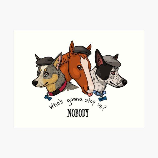 Peaky Pets Art Print