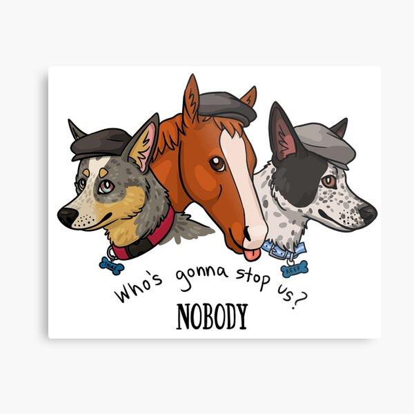 Peaky Pets Metal Print