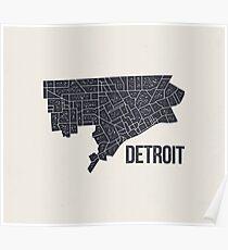 Detroit Roads Poster