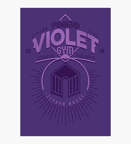 Violet Gym Photographic Print