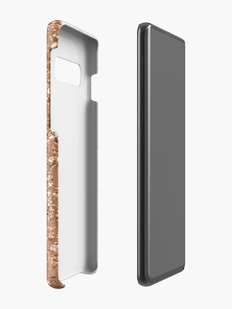 Alternative Ansicht von Roségold gemalte Pinselstriche und Glitzer Hülle & Klebefolie für Samsung Galaxy