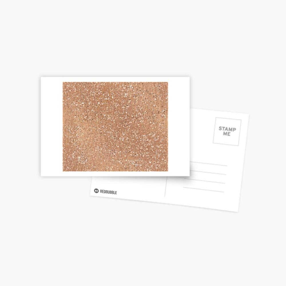 Roségold gemalte Pinselstriche und Glitzer Postkarte