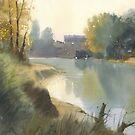 Autumn on the river by Sergei Kurbatov