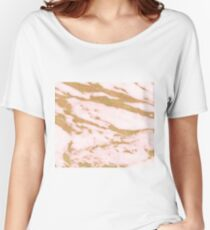 Rose gold red marble Women's Relaxed Fit T-Shirt
