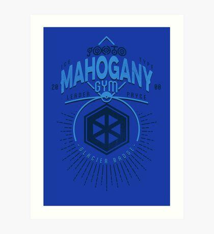 Mahogany Gym Art Print
