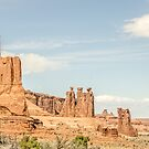Three Gossips and Sheep Rock in Arches by Sue Smith