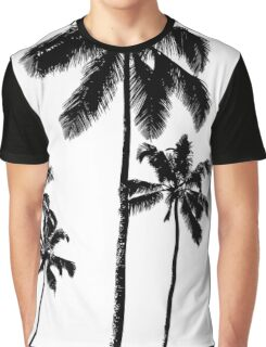 Tropical palms in monochrome Graphic T-Shirt