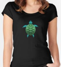Sea turtle Art T-Shirt Women's Fitted Scoop T-Shirt